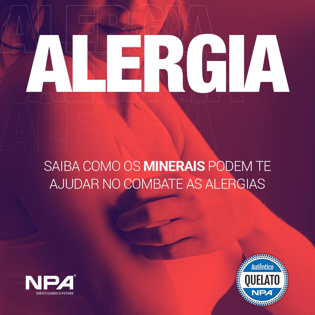 Minerais ajudando no combate as alergias